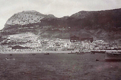 Gibraltar 2x Overview photographed from S.M.S. Gneisenau  - orig. photos 1910