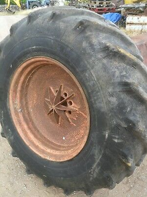 Jcb 3c/3cx, tractor wheel and tyre 16.9-28