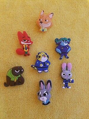 ZOOTOPIA shoe charms/cake toppers!!Set of 7!! FAST FREE USA SHIPPING!!