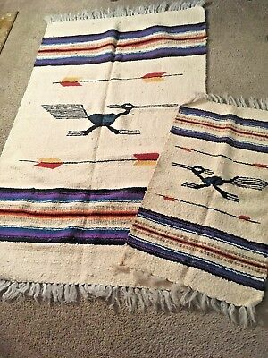 Chimayo RoadRunner Rugs Set of Two (Small and Large) Pre-owned