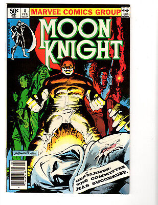 Moon Knight #4 (2/81) VF- (7.5) Sienkiwicz! Underrated Bronze Age!