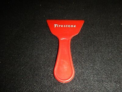 Vintage Firestone Hass oil Co window ice scrapper Marshfield Wisconsin