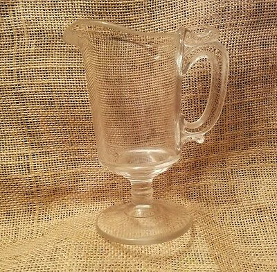 Antique Collectible Glass Stemmed Syrup Pitcher
