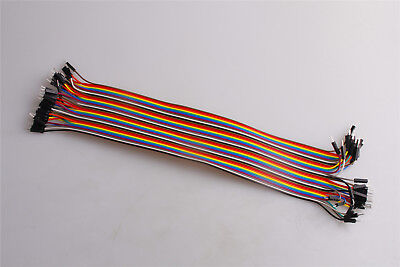 Jumper Connector Cables Line Dupont wire 30CM Male to Male 1p-pin M-M 40pcs
