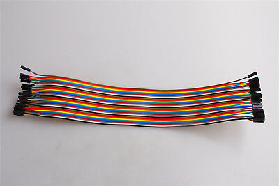 40pcs Dupont wire 30CM Cables Line 1p-pin F-F Female to Female Jumper Connector