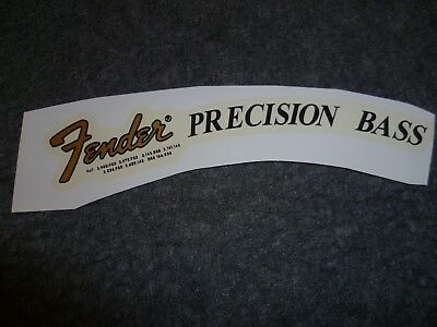 Precision Bass Waterslide Decal ( Gold)
