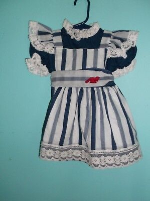 girls size 2T navy and white striped dress by Nannette