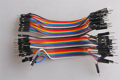 Cables Line Jumper Connector 10CM Male to Male Dupont wire 1p-pin M-M 40pcs
