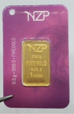 0,50 gr 1/2 gram gold bullion bar 24 Ct 999,9 lingot d'or goldbarren BIG SIZE