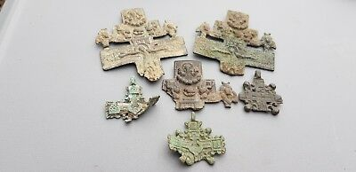 Superb rare lot of broken Post Medieval pendants.  Please read description L113w