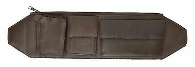 Brown New Genuine Leather Slim Ultimate Style Utility Belt Waist Bag/Fanny Pack