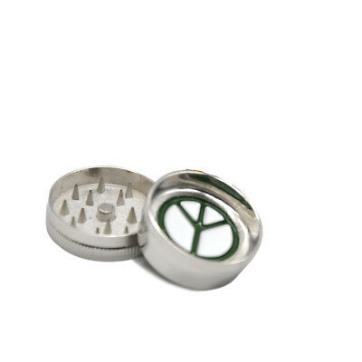 Peace 2 Part 30MM Metal Herb Grinder Tobacco Spice Mills Crusher Zinc Ally UK