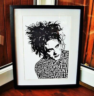 The Cure/Robert Smith/Friday I'm in love A3 size typography art print/poster