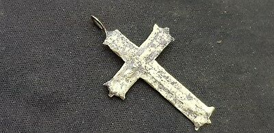 Superb very old bronze crucifix pendant wearable. Please read description. L113y