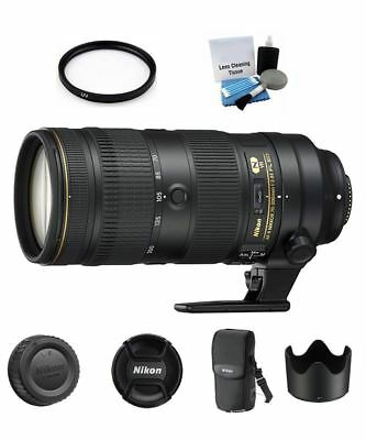 Nikon AF-S NIKKOR 70-200mm f/2.8E FL ED VR Lens + 77mm UV Filter + Cleaning Kit