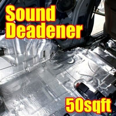 50 SQFT Car Sound Deadening Insulation Sheets 70mil Deadener w/ Dynamat Sample