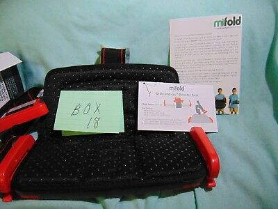 mifold Grab-and-Go Car Booster Seat, black and red