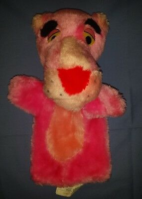 """Vintage 1980 Pink Panther Hand Puppet Plush Mighty Star 10"""""""