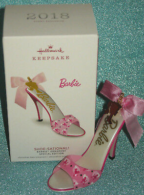 Signed Hallmark Shoe-Sational 2018 Barbie Convention Exclusive shoe ornament