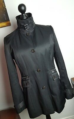 Womens Marc New York By Andrew Marc Black 3/4 Length Raincoat Coat Size Large
