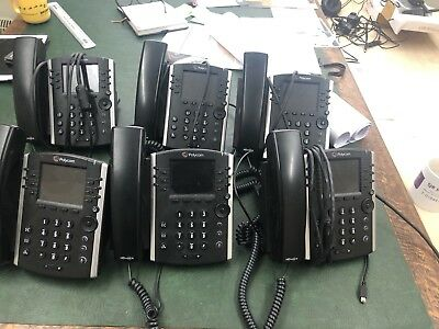 """Polycom VVX410 Telephone Unit """"without"""" Power Supply Lot2 Please read listing"""