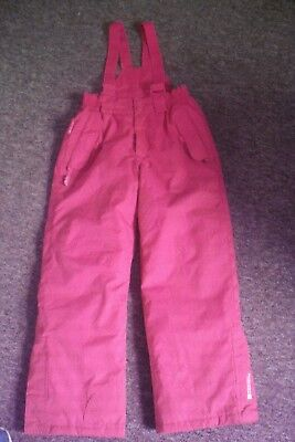 Girls 9-10 Mountain Warehouse Ski Pants In Pink