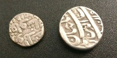 Two Indian Princely States Silver Coins - Rupees From The 1800s
