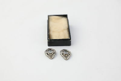 Pair of Antique Georgian SHOE BUCKLES Tested Silver & Paste - 7g