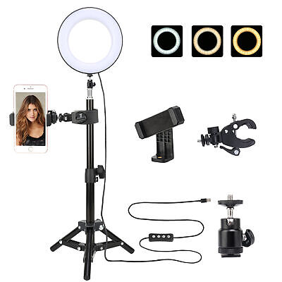 "Zomei LED Ring Light 6"" Tabletop light Dimmable lighting for Makeup Photography"