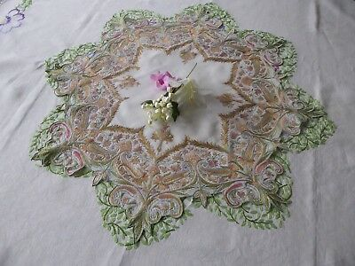 Vintage/antique Embroidered Table Set- Stunniing Intricate Embroidery