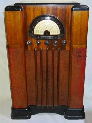 RARE 1930s Midwest Console Radio * Works * AS IS