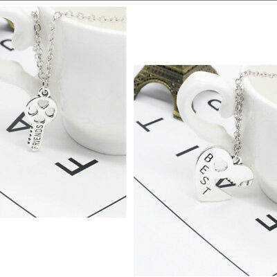 Fashion Women Pendant Necklace Heart Key Silver plated Gift Friendship Jewelry