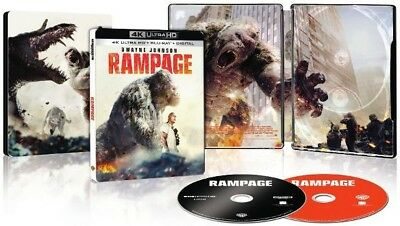 Rampage  4k Ultra HD Blu-Ray + Blu-Ray Digital Code Steelbook Only At Best Buy