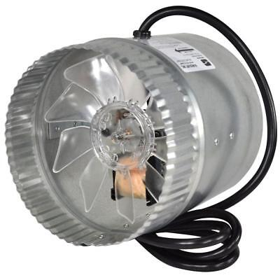 """Suncourt Inductor 8"""" Corded In-Line Duct Fan Boosts Airflow Corrosion-Resistant"""