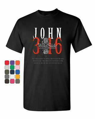 John 3:16 T-Shirt Bible Religion Christian Jesus Christ God Lord Mens Tee Shirt