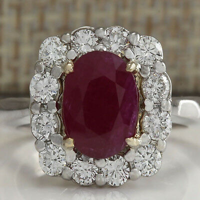 Charm Jewelry 925 Silver Plated Red Ruby Gem Ring Engagement Gifts Size 6-10