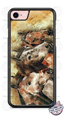 Horses Face Artwork Design Phone Case for iPhone Samsung LG Google etc
