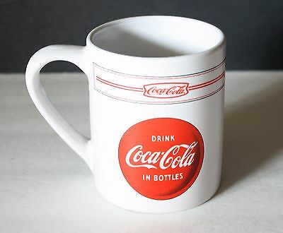 DRINK COCA COLA IN BOTTLES Coffee Mug Red White Coke Logo Cup Gibson
