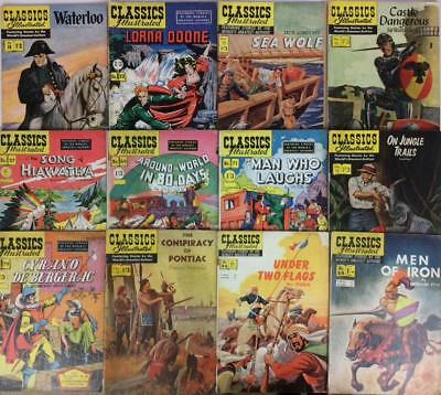 Classics Illustrated massive joblot 25 x Golden Age issues 1953 to 1960.