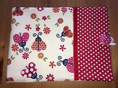 Handmade Baby Health Record Book Cover for the Red NHS Book - Ladybug
