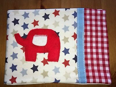 Handmade Baby Health Record Book Cover for the Red NHS Book - Elephant