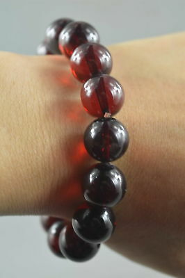 Collectable Handmade Decor Amber Carve Auspicious Bead Royal Fashion Bracelet