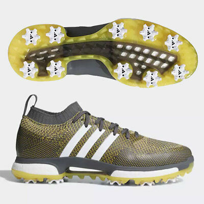 NEW ADIDAS TOUR 360 Boost Onix Vivid Yellow Golf Shoes Men s Size ... 3d36d6bce