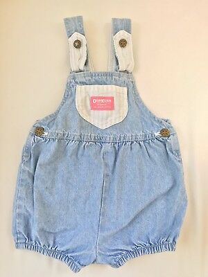 Vintage Oshkosh B Gosh Overalls Toddler Girl Size 3t 2t Bow Back Detail
