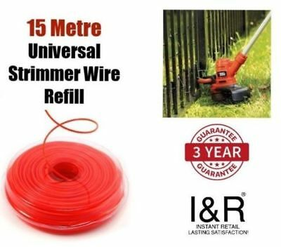 1.25mm Universal Strimmer Wire Trimmer Trim Line Grass Weed Hedge Cutter Refill