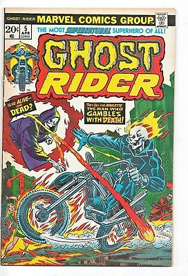 Ghost Rider #5 (Oct 1974, Marvel)The Man Who Gambles with Death!