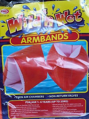Arm Bands - Age 1-6 Years (Up To 25Kg.) Twin Air Chambers - Non Return Valve.