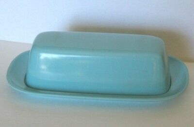 Vintage Texas Ware Covered Butter Dish Aqua Melmac Melamine.