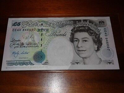 Bank of England 5 Pound Note very high grade 1993