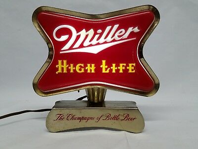 Vtg 50s miller high life beer cash register clamp back bar light up vtg 50s miller high life beer cash register clamp back bar light up sign rare aloadofball Images
